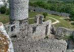 Widok z Baszty Kredencerskiej na Wieżę Skazańców i podzamcze