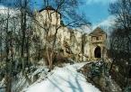 Zamek w Ojcowie w aurze zimowej
