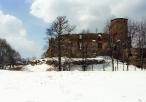 Zamek w Siewierzu w aurze zimowej