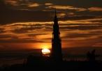 Jasna Góra przy zachodzie słońca