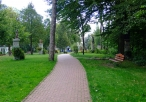 Park na terenie Klasztoru