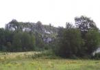 Widok na masyw skalny Góry Zborów