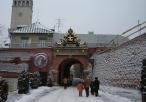 Brama im. Jana Pawła II zimą