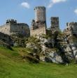 Prace na zamku Ogrodzieniec