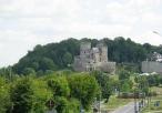 Widok na zamek w Będzinie z miasteczka