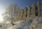 Ruiny zamku Rabsztyn zimą