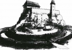 Rekonstrukcja wyglądu zamku- szkic