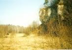 Widok na skałę Biśnik