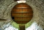 Wnętrze wieża zamkowej (centralnie sufit)