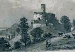 Dziewiętnastowieczna grafika przedstawiająca ruiny