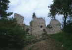 Ruiny zamku w Bydlinie