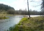 Rzeka Warta -widok od strony Klasztoru
