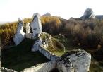 Ogrodzieniec - zamek - widok z murów obronnych
