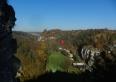 Widok na nasze gospodarstwo ze skał Łamańce