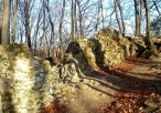 Pozostałość muru zamkowego