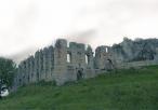 Widok na ruiny zamku w Rabsztynie