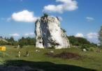 Skałka w pobliżu Zamku Mirów