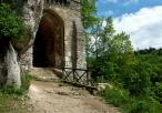 Brama wiodąca do zamku w Ojcowie