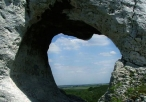 Widok z przez okno skalne